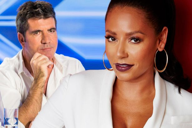 Image result for images mel b and simon cowell