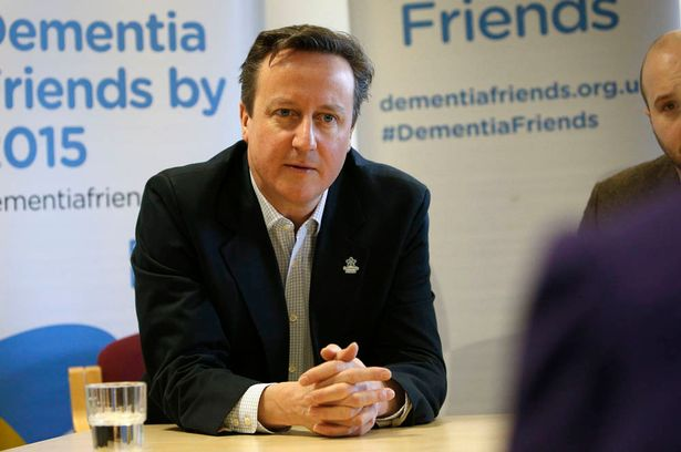 Prime Minister David Cameron talking at a Dementia Friends, Alzheimer's Society event at The Clare Charity Centre in Saunderton, Buckinghamshire