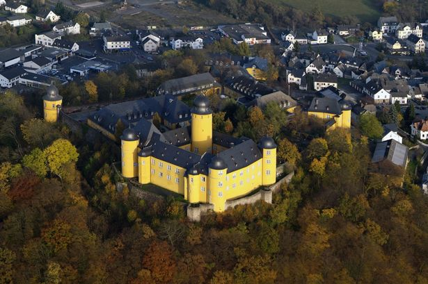 Montabaur castle in the evening in Germany