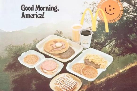 McDonalds introduce breakfasts in 1977