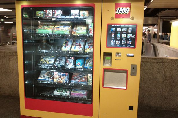 Lego vending machine in Munich, Germany