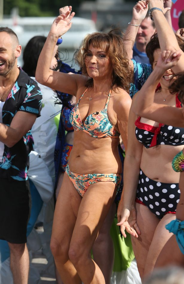Lorraine Kelly promotes her Bikini Promise campaign, which aims to inspire other ladies to embrace their figures in the two-piece beachwear on 'Lorraine'