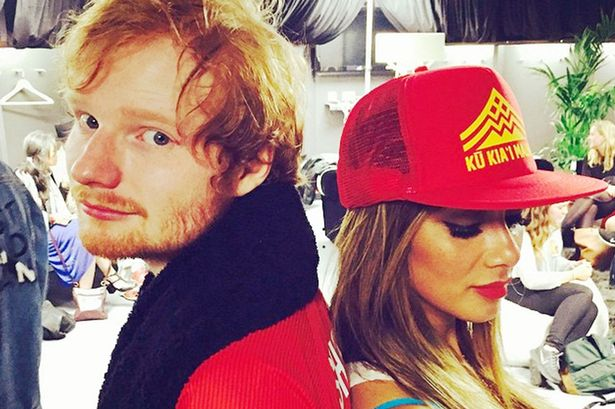 Nicole Scherzinger getting close to Ed Sheeran