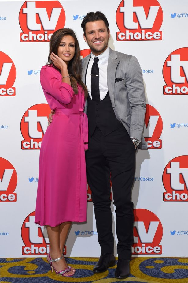 Michelle Keegan and Mark Wright attend the TV Choice Awards 2015 at Hilton Park Lane