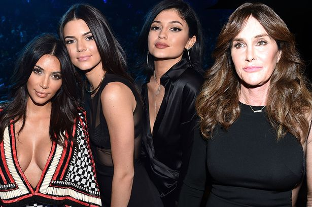 Caitlyn Jenner and her girls Kim Kardashian, Kylie and Kendall Jenner