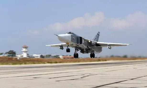 Russian Sukhoi Su-24 bomber
