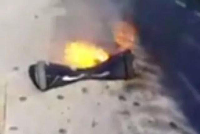 Hoverboard explodes