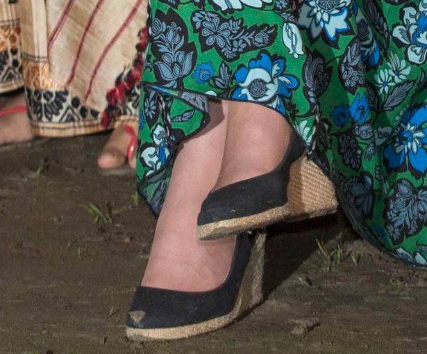Kate wore her trusty Pied a Terre wedges