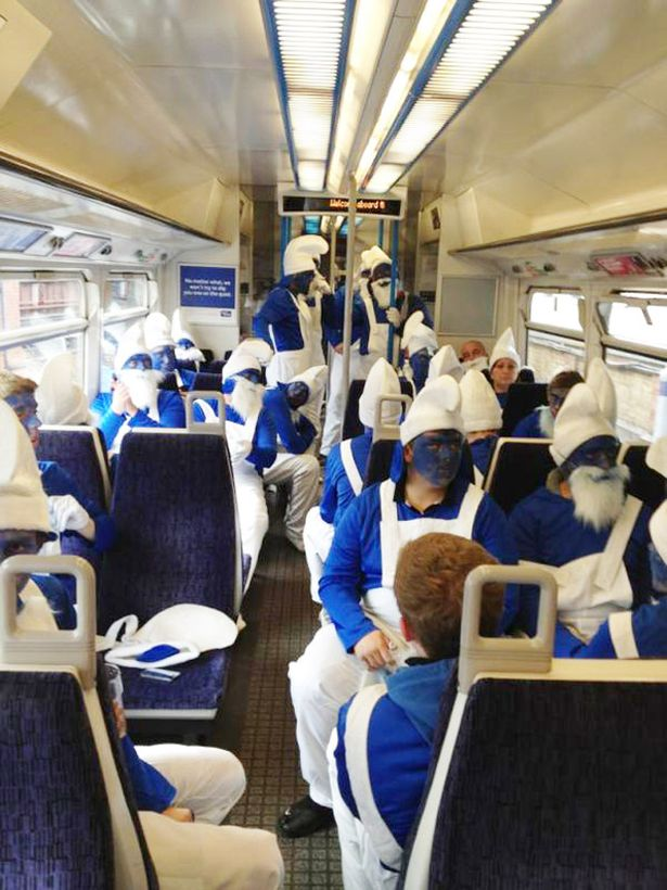 Hartlepool United Smurf army hits London for Charlton
