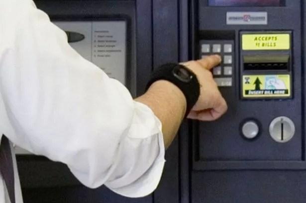 Student using vending machine
