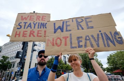 Protest for the United Kingdom to remain in the European Union