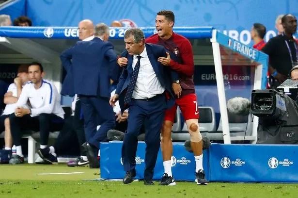 Cristiano Ronaldo and head coach Fernando Santos