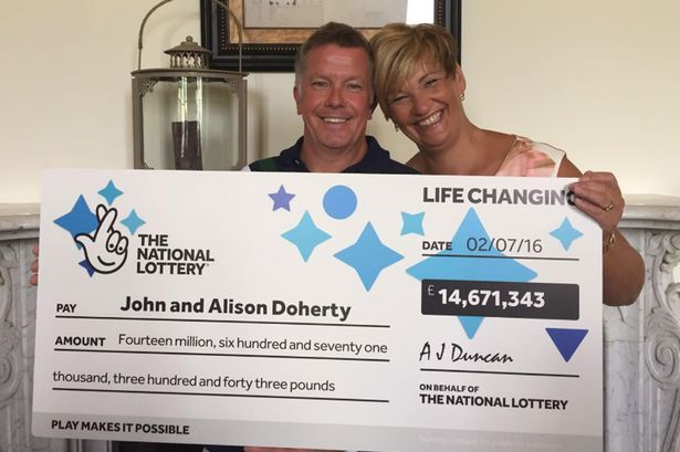 Lottery winners John and Alison Doherty