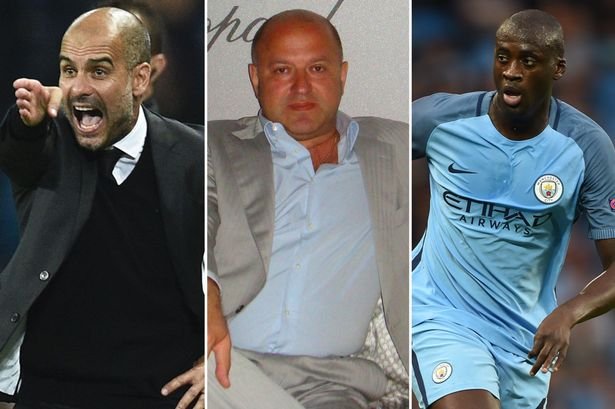Image result for Yaya Toure tells agent to end feud with Pep Guardiola