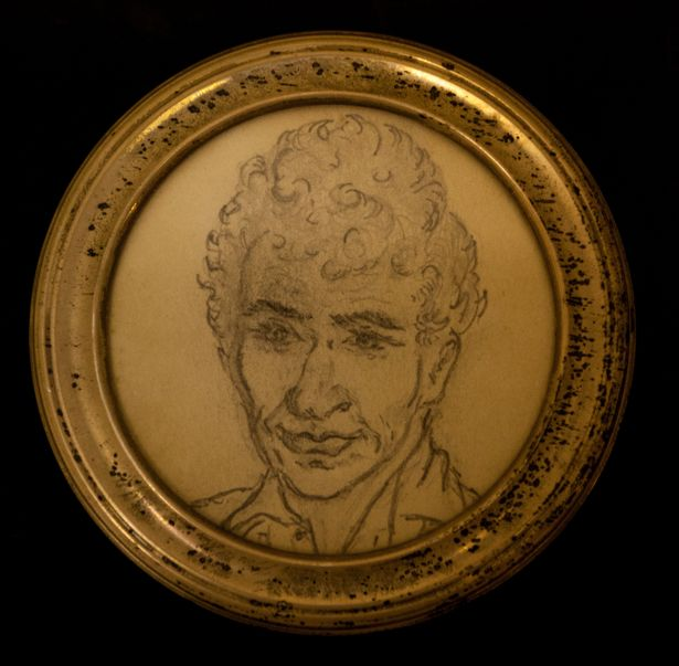 A drawing Joan Neininger did of Ken Selway when he still lived on the streets