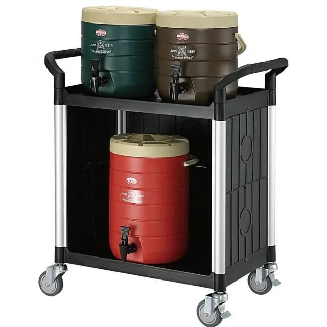 【COLOR】精緻標準型2層三面圍邊工具/餐推車(高級儀器輪)
