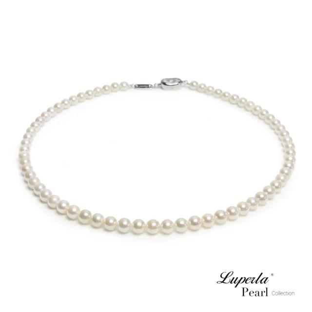 【大東山珠寶】日本Akoya海水珍珠項鍊純潔與永恆 6-6.5mm(日本Akoya海水珍珠)