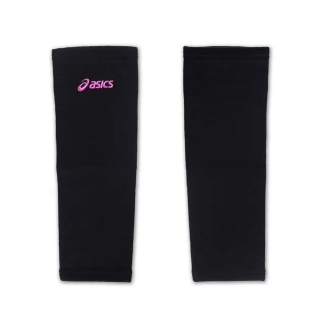 【ASICS】排球防撞長版軟護膝-巧固球 手球 一只入 亞瑟士 黑紫(Z31403-9016)