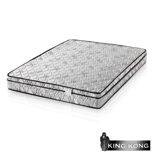 【金鋼床墊】三線高級緹花布加強護背型3.0硬式彈簧床墊-雙人加大6尺