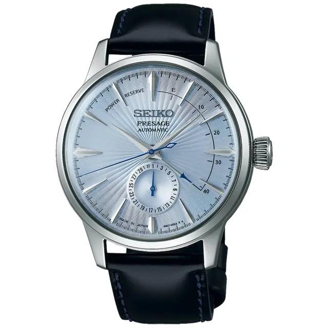 【SEIKO 精工】Presage 調酒師品味紳士動力儲存顯示機械錶-藍/40.5mm(SSA343J1/4R57-00E0B)