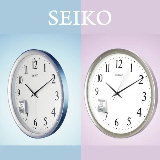 【SEIKO 精工】QXA378 輕盈感空氣色彩數字指針壁掛鐘