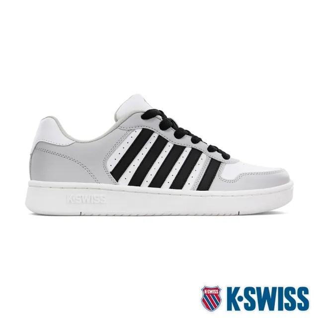 【K-SWISS】時尚運動鞋 Court Palisades-男-白/灰/黑(06931-106)