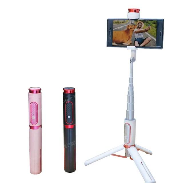 【CityBoss】獨家記憶藍牙手持自拍腳架 三腳架 分離式遙控 手機相機 微單投影 GoPro