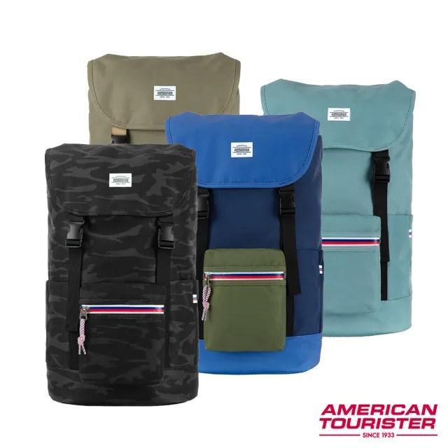 【AT美國旅行者】Colton防水拉鍊潮流筆電後背包15吋 多色可選(HM9)