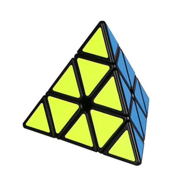 【888ezgo】魔方格三階4面三角形魔術方塊(4色)(授權)