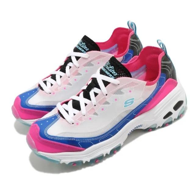 【SKECHERS】休閒鞋 D Lites-Fresh Air 女鞋 老爹鞋 吸震 耐磨 修飾腿部線條 穿搭 白 粉(149235BLHP)