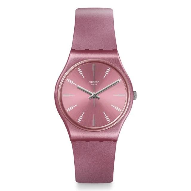 【SWATCH】原創系列手錶 PASTELBAYA 閃耀粉紅(34mm)
