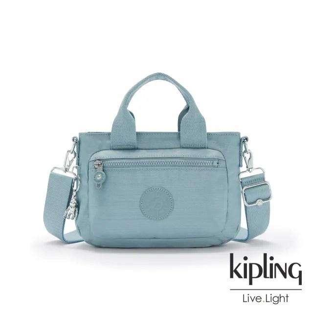 【KIPLING】寧靜海洋藍簡約大方手提肩背包-MIHO MINI
