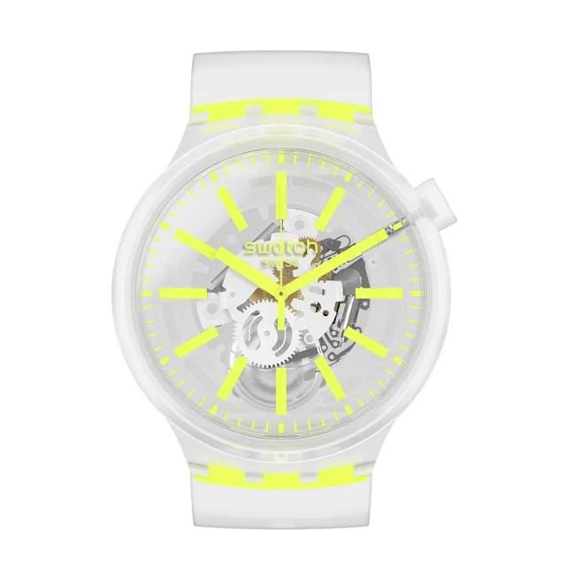 【SWATCH】BIG BOLD JELLY系列手錶 YELLOWINJELLY 熱情黃(47mm)