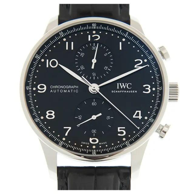 【IWC 萬國錶】Portuguese 葡萄牙計時腕錶x黑x41mm(IW371609)