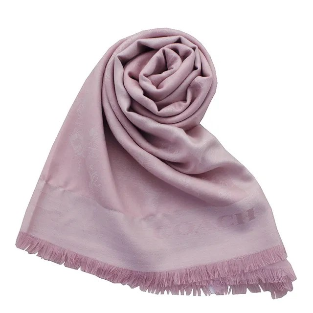 【COACH】羊毛馬車LOGO薄款圍巾披肩(粉色)