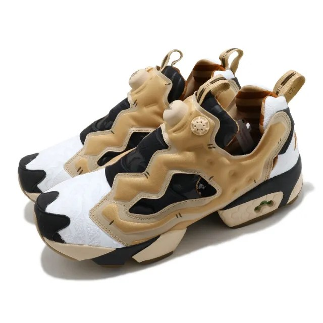 【REEBOK】休閒鞋 Instapump Fury OG 男女鞋 經典款 充氣科技 舒適 避震 襪套 情侶鞋 黑金(GZ8632)
