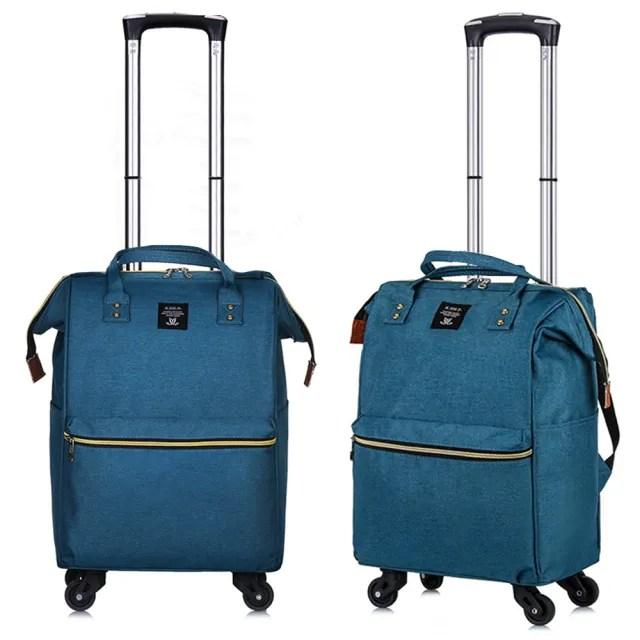 【悅生活】GoTrip微旅行--25吋 學院風揹拉兩用旅行登機拉桿包(拉桿袋 行李箱 拉桿書包)