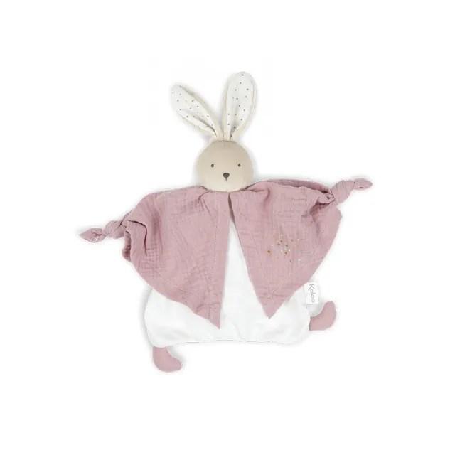 【KALOO】Kaloo Organic 有機棉兔兔安撫巾(豆沙粉)