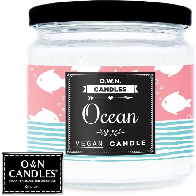 【O.W.N. 對環境友善的蠟燭】小糖果罐精油香氛蠟燭 Oceans Best 海洋(精油、香氛蠟燭、玫瑰)