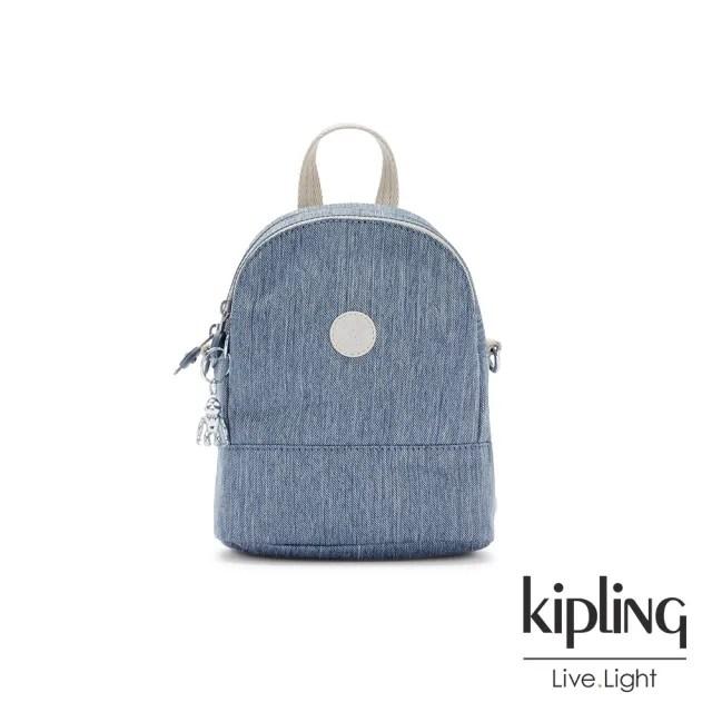 【KIPLING】淺色丹寧藍隨身兩用斜背包-IVES MINI
