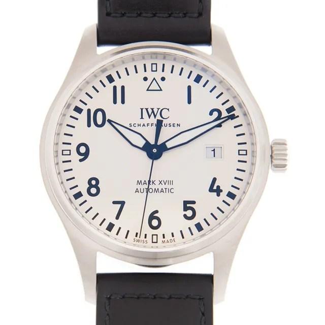 【IWC 萬國錶】馬克十八飛行員腕錶x白x40mm(IW327012)