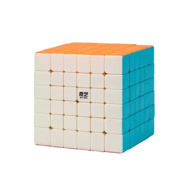 【888ezgo】魔方格六階比賽專用魔術方塊(六色螢光版)(授權)