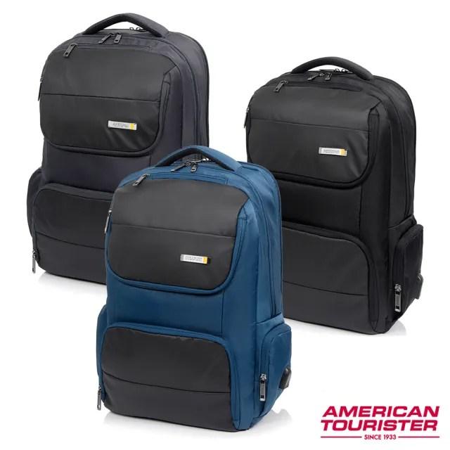 【AT美國旅行者】Segno可鎖式可擴充筆電收納後背包17 多色可選(HD1)