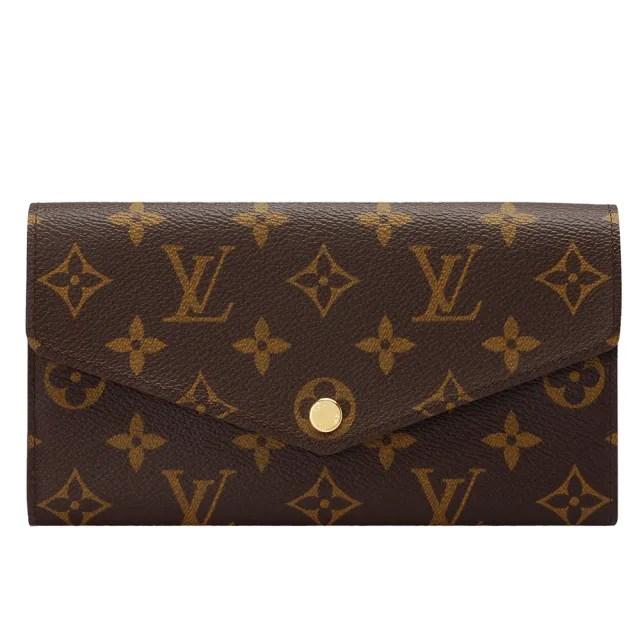 【Louis Vuitton 路易威登】M62236 SARAH系列經典Monogram帆布印花暗釦長夾(罌粟紅色)