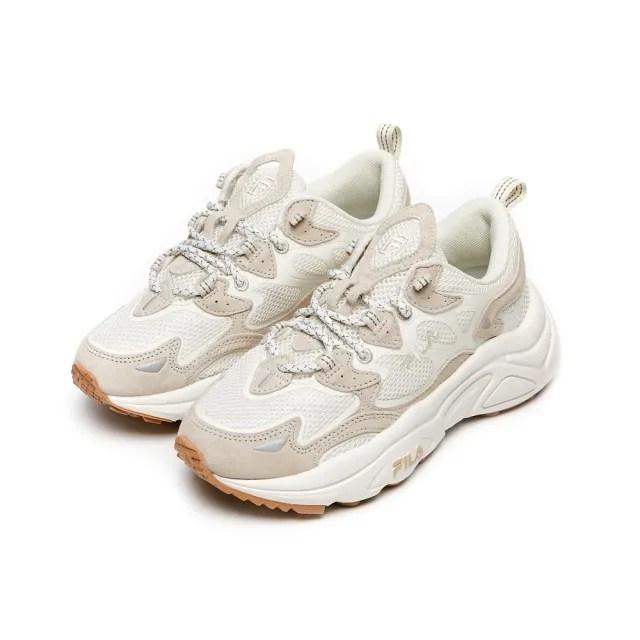 【FILA】厚底鞋 老爹鞋 男/女鞋 運動鞋 TENACITY 中性運動鞋-米(4-C120V-926)
