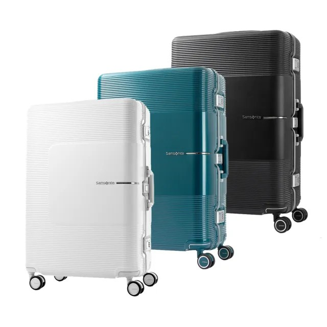 【Samsonite 新秀麗】28吋Tri-Tech摩登PC鋁框TSA行李箱(GN4)