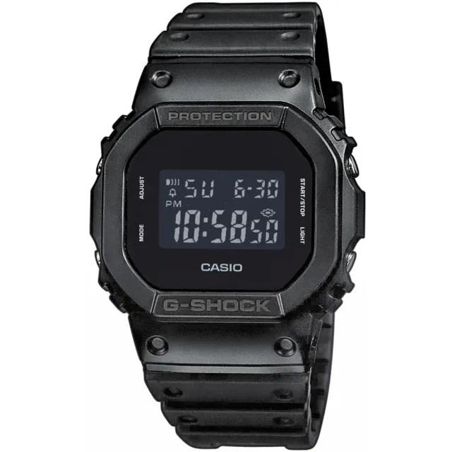 【CASIO 卡西歐】經典個性霧面數位休閒錶(DW-5600BB-1)