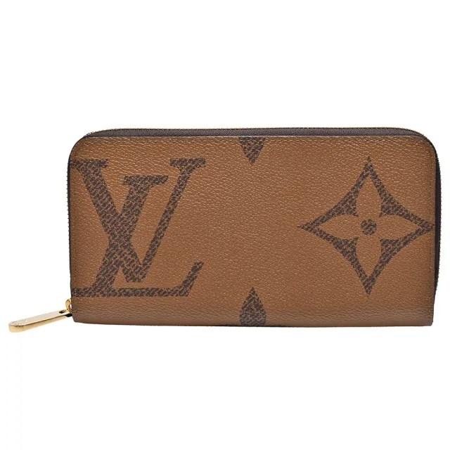 【Louis Vuitton 路易威登】M69353 經典Monogram Reverse帆布拉鍊長夾