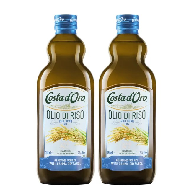 【Costa dOro 高士達】義大利原裝進口高士達玄米油(750ml*2入)