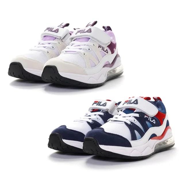 【FILA】KIDS 氣墊慢跑鞋 童鞋 運動鞋 康特杯(3-J819V-123/3-J819V-199 兩色任選)